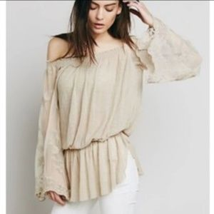 free people || queen anne lace tunic blouse